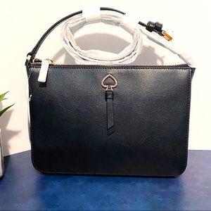 Kate Spade Adele Black Leather Medium Crossbody